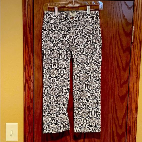 Girl's navy print pants, 12